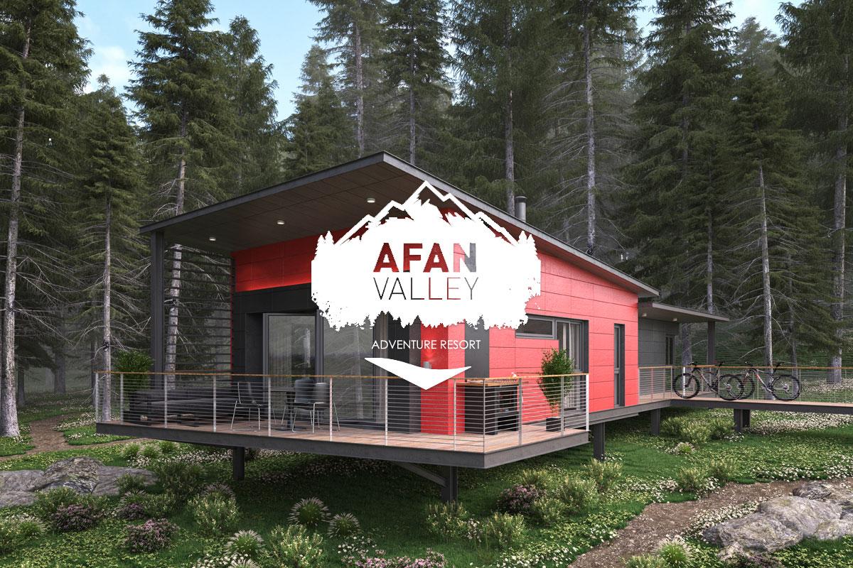 Afan Valley Adventure Resort lodge exterior