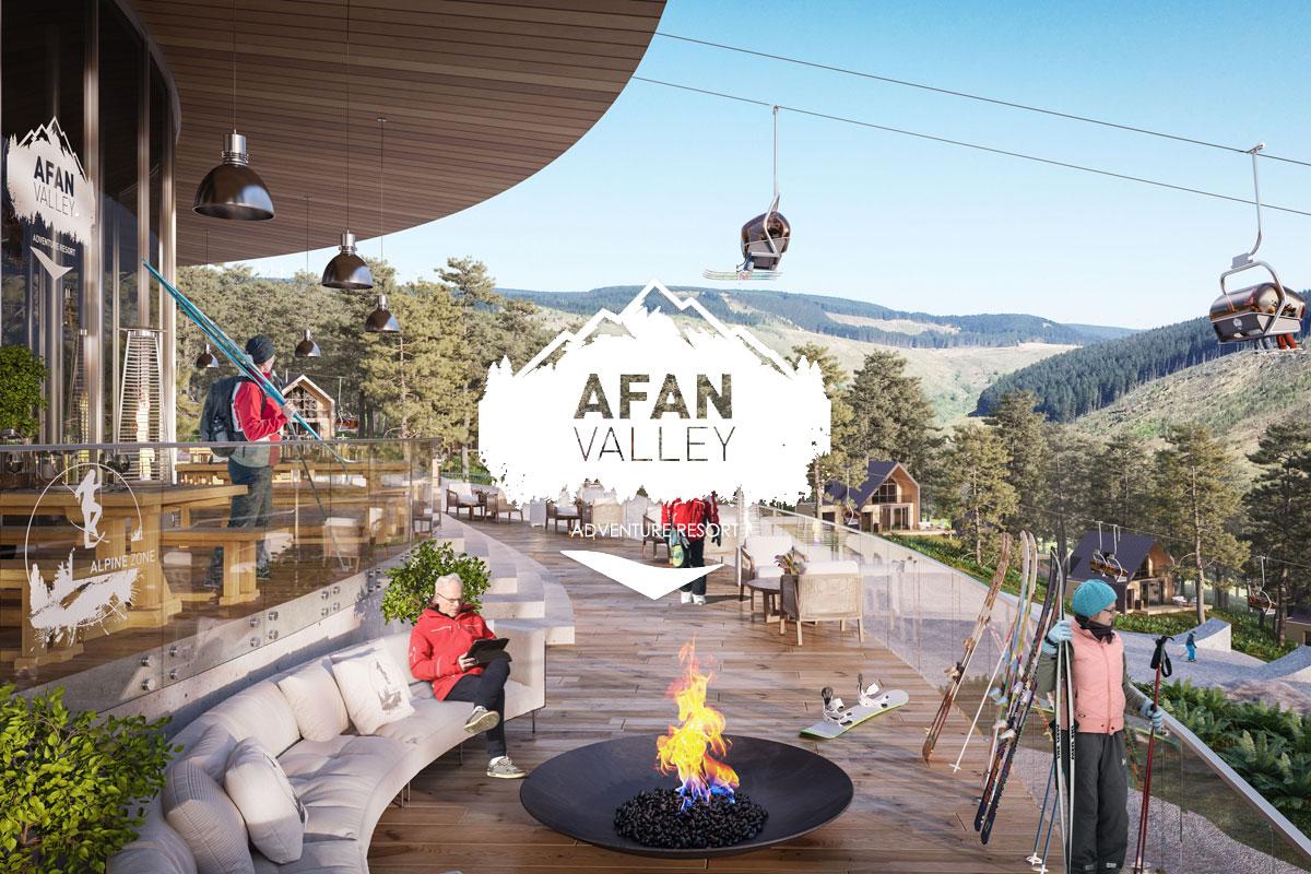 Afan Valley Adventure Resort Alpine Zone viewing platform