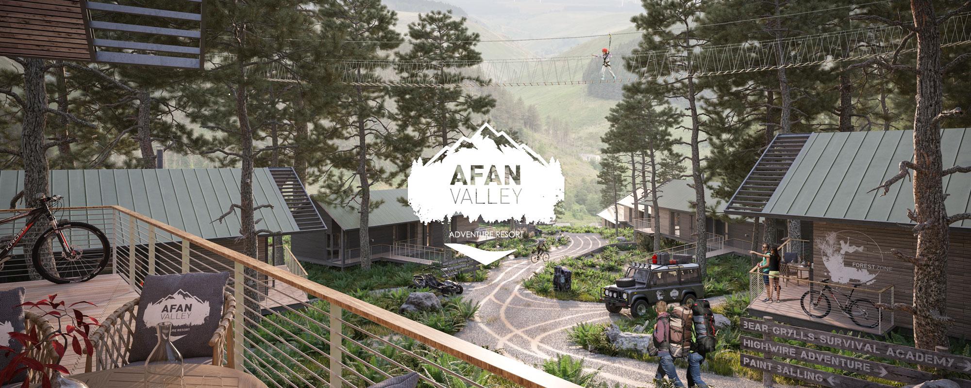 Afan Valley Adventure Resort Forest Zone viewing platform