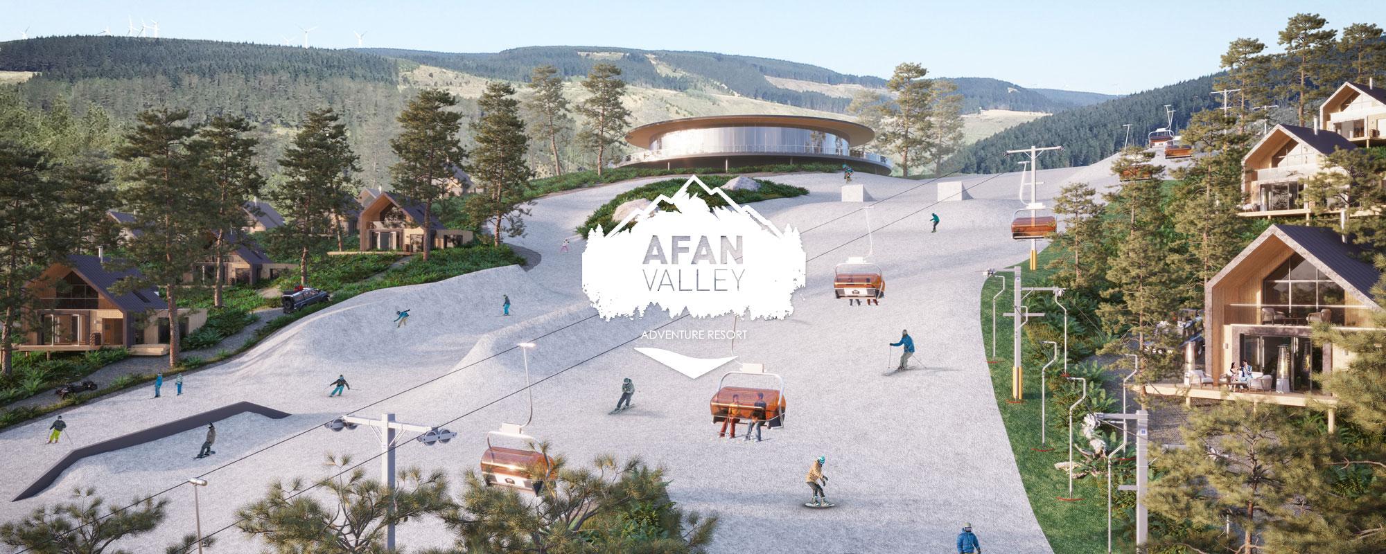 Afan Valley Adventure Resort Alpine Zone ski slope